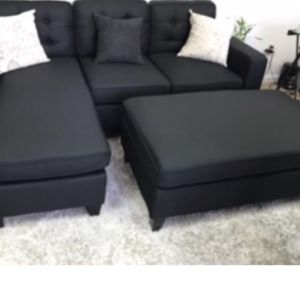 All New In Box Black Sectional Sofa for Sale in Los Angeles, CA
