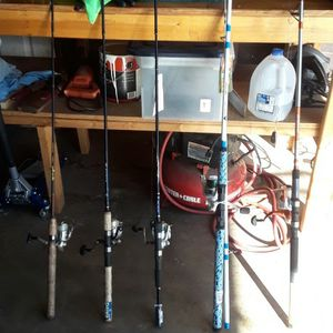 Fishing Combos $100 For All for Sale in San Bernardino, CA