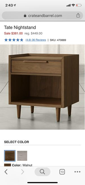 Crate and Barrel Tate Nightstand for Sale in Seattle, WA
