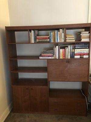 Unique Bookshelf with Fold-out Desk for Sale in Detroit, MI