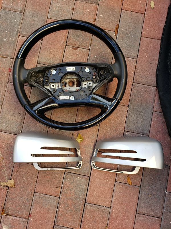 Mercedes S class steering wheel and mirror covers oem
