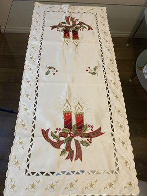 Christmas embroidered runner for Sale in North Salt Lake, UT