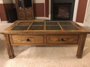 Solid Oak Coffee Table for Sale in Brambleton, VA