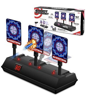 Electronic Shooting Target for Nerf Gun, Scoring Auto Reset Target for Boys, Digital Targets with Light Sound Effect, Gifts Toys for 5,6,7,8,9,10+ Ye for Sale in Burke, VA