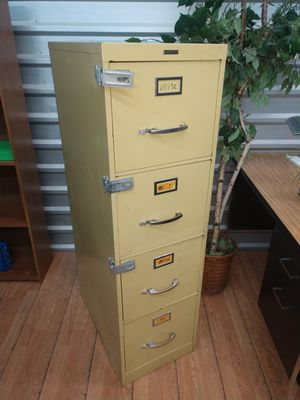 File Cabinet, 4 Drawer Cabinet, Letter Size Cabinet, Yellow Color for Sale in Plano, TX