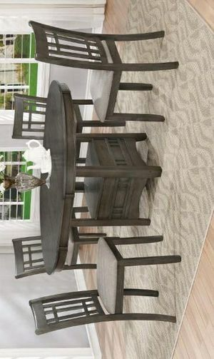 🚚3-6 days delivery🚚NewHartwell Gray Oval Dining Set for Sale in Jessup, MD