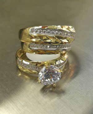 Gold 14K weeding trio for Sale in Los Angeles, CA