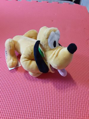 "Disney Collections Pluto Dog stuffed plush animal Yellow Tan 8"" Green collar for Sale in Lehigh Acres, FL"