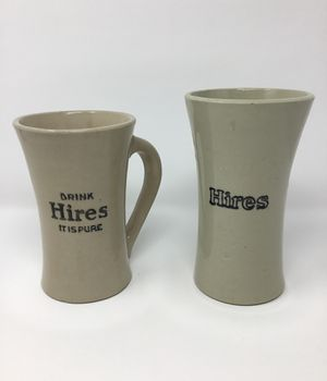 Antique Stoneware Hires Root Beer 2 Mugs for Sale in Trumann, AR