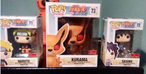 Funko Pop Naruto Sasuke Kurama Hot Topic Exclusives Set #71-73 for Sale in Irwin, PA