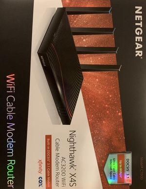 NETGEAR Nighthawk X4S DOCSIS 3.1 Ultra-High Speed WiFi Cable Modem Router Combo for Sale in Meridian, ID