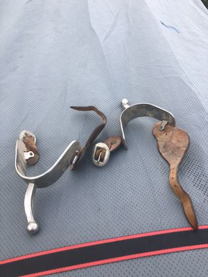 Old reining spurs great condition . Used in rodeos reining . Collectible for Sale in Bakersfield, CA