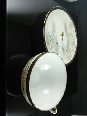 Japanese yellowbird floral tea cup and saucer for Sale in Las Vegas, NV