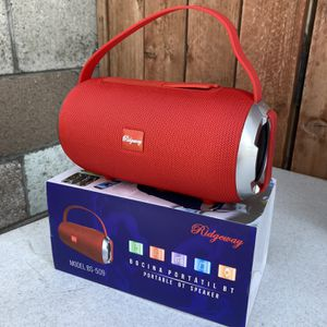 RECHARGEABLE BLUETOOTH SPEAKER ! (3-6 HOURS BATTERY LIFE-PORTABLE) MEMORY SLOT-USB SLOT-AUX INPUT (Charger & Aux Cord included) NEW ! (BRAND NEW IN BO for Sale in Baldwin Park, CA