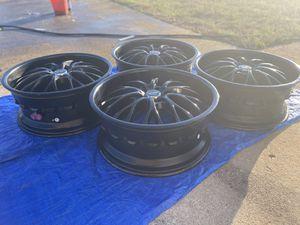 "20"" Black Rims with tires 5 x 114.3 lug pattern (no road rash or not bent) for Sale in Atlanta, GA"