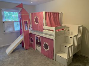 Bunk bed with drawers and slide ( mattresses sold - no mattresses) for Sale in West McLean, VA
