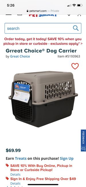 Dog Carrier for Sale in Gilroy, CA