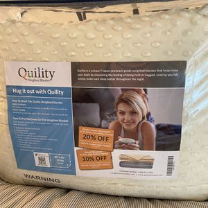 Cozy Weighted Blanket with Soft Removable Cover (25 Pounds) for Sale in Camp Hill, PA
