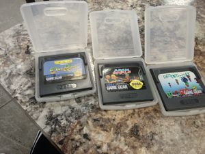Lot of 3 Sega Game Gear games with carrying cases. for Sale in Henderson, NV