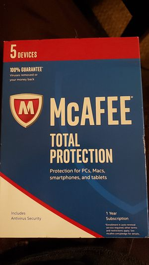 McAfee Total Protection Virus Protection WITH VPN! *BRAND NEW* for Sale in Denver, CO