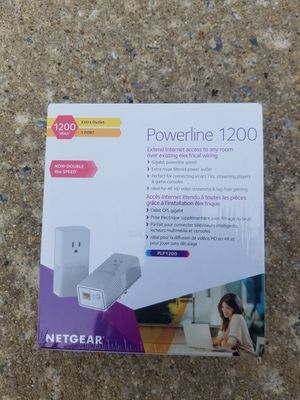 New Netgear PL1200S Powerline Speed 1200Mbps Gigabit Ethernet Adapter US PLUG. Condition is New for Sale in McDonogh, MD
