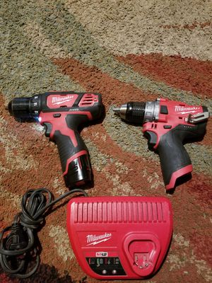 Milwaukee hammer drill and drill for Sale in Mansfield, TX
