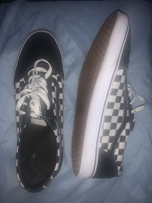 Black & White Checkered Vans Size 14 for Sale in Tallahassee, FL