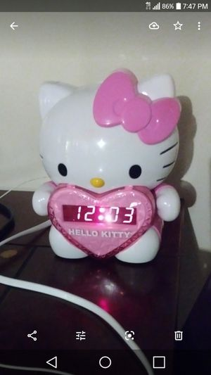 Hello kitty wall projection alarm clock AM/FM for Sale in Fresno, CA