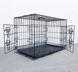 """New in box $35 Folding 30"""" Dog Cage 2-Door Folding Pet Crate Kennel w/ Tray 30""""x18""""x20"""" for Sale in El Monte,  CA"""