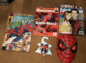 Spider Man Mask & Collectible Bundle! First reasonable offer gets it! for Sale in Tacoma, WA