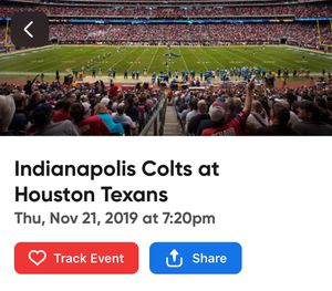 5 Colts vs. Texans tickets! for Sale in Houston, TX
