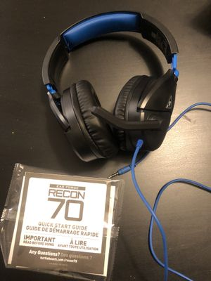 Turtle beach Recon 70 wired headset for PS4 and PS5 for Sale in Largo, FL
