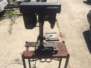 Black & Decker 5 Speed 1/6 Horsepower 120 Volt Drill Press with stand for Sale in Vancouver, WA