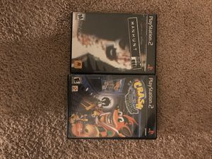 PS2 Crash/ Manhunt for Sale in Bothell, WA