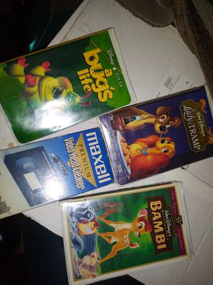 VHS movies Lady &the Tramp, Bambi and others excellent condition for Sale in Portland, OR