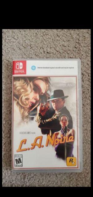 L.A. Noire Nintendo Switch for Sale in Fresno, CA