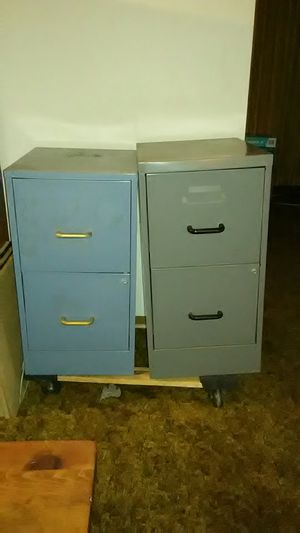 2 File Cabinets Blue & Grey (No Keys)📎📄📂 for Sale in San Diego, CA