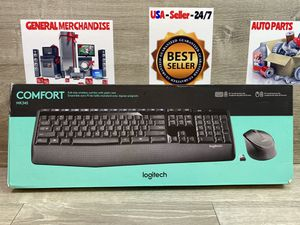 Logitech MK345 Wireless Combo Full-Sized Keyboard with Palm Rest and Right Mouse for Sale in Miami, FL