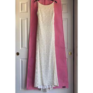 B. Darlin Low Back Sequin Lace Long Dress for Sale in Denver, CO