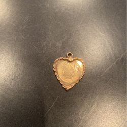 14K Gold Heart Shaped Charm With Girl On Front And Name On Back for Sale in Billerica,  MA