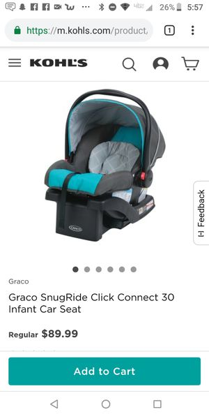 New price $50!!!!Infant car seat 2018! Graco car seat with 3 bases up to 30 lbs for Sale in McKnight, PA