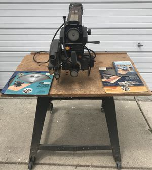 Sears Craftsman 12 inch Radial Arm Saw + Table for Sale in Redford Charter Township, MI