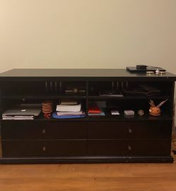 Black Entertainment Center with Storage for Sale in Seattle,  WA