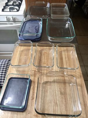 Pyrex/Anchor clear glass ovenware/ microwave/bakeware set 11 piece for Sale in Palos Park, IL