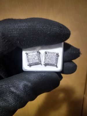 DIAMOND BOX EARRINGS BRAND NEW for Sale in Oregon City, OR