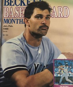 Beckett Jan/Feb 1988 issue #29 Front Cover Don Mattingly, Back Cover Will Clark. for Sale in Boston,  MA