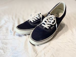 Men's Vans Navy Blue and white Shoe (size 12) for Sale in Odessa, FL