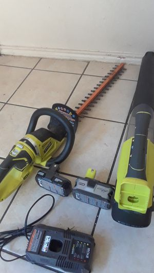 battery leaf blower & bush trimmer for Sale in Mesquite, TX