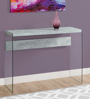 Glass and Faux Concrete Entrance Entry Console Table for Sale in Portland, OR