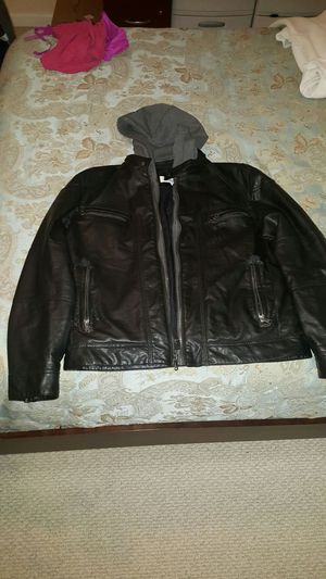 Calvin klein leather jacket L for Sale in West Springfield, VA